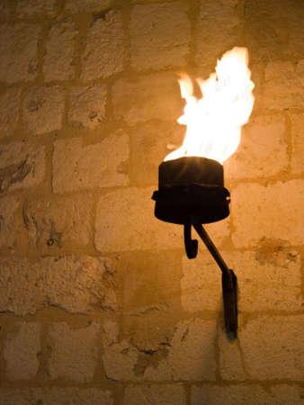 dubrovnik: Dubrovnik summer festival decoration detail - torch.