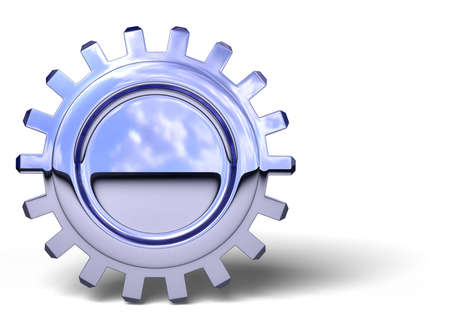 rotator: Nice reflection on a gear with shadow on white. Easy to isolate. Stock Photo