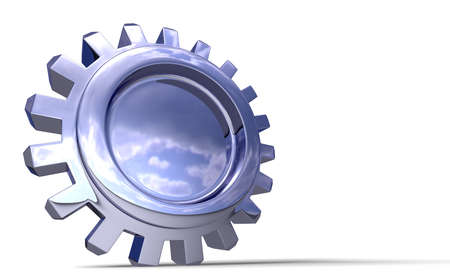 Nice reflection on a gear in perspective with shadow on white. Easy to isolate. Stock Photo - 3500588