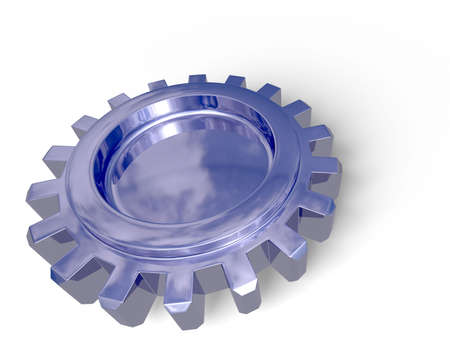 Nice reflection on a gear with shadow on a white ground. Easy to isolate. Stock Photo - 3500581
