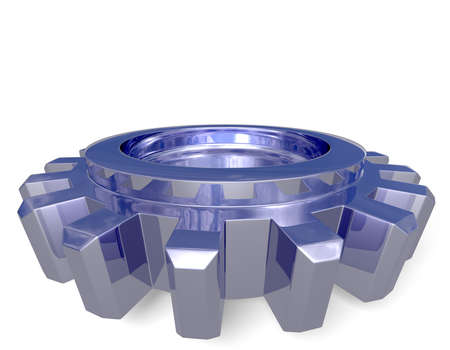 Nice reflection on a gear with shadow on a white ground. Easy to isolate. Stock Photo - 3500584