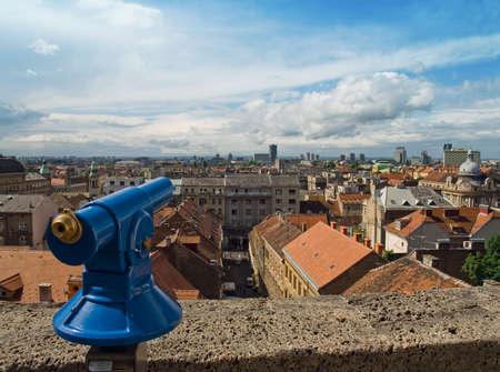 zagreb: City panorama. Zagreb capitol city of Croatia. Stock Photo