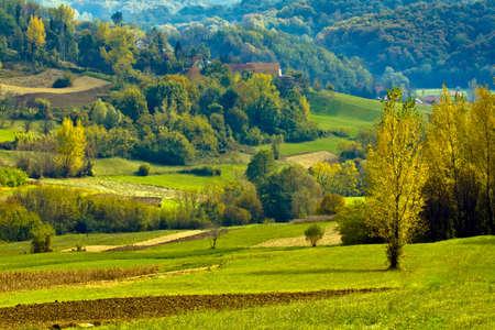 croatian: Croatian countryside, Europe. Landscape in the region Zagorje.
