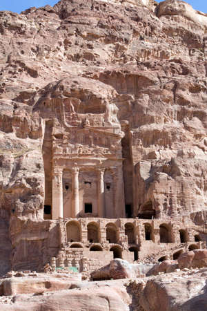 khazneh: Petra - Nabataeans capital city (Al Khazneh) , Jordan. The Urn tomb. Roman Empire period. Stock Photo