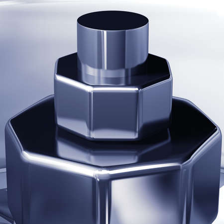 propulsion: Turbine cross section detail of motor. 3D illustration