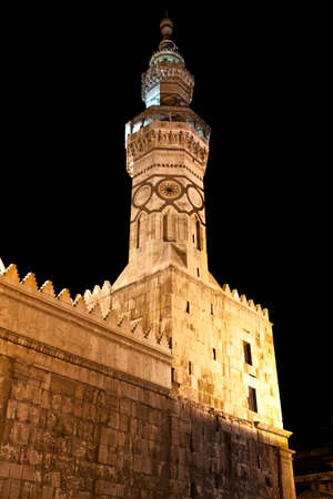 byzantine: The Umayyad Mosque tower in Damascus, Syria. Roman temple and Byzantine church before the Islamic conquest of the Levant.
