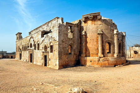 syrian: This is one of the best preserved Syrian - Byzantine ecclesiastical building (5th century). Three-nave cathedral.