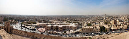 souk: Aleppo panorama with view over the longest souk in the world.