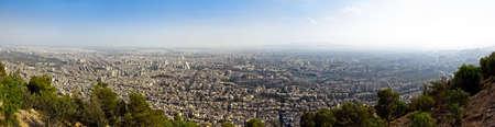 Panorama of Damascus from mountain Kasun photo