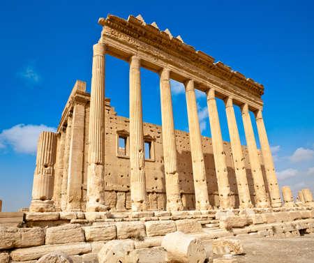 Ancient Roman time town in Palmyra (Tadmor), Syria. Greco-Roman & Persian Period. Temple of Bel.