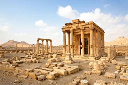 Temps romain antique ville de Palmyre (Tadmor), Syrie. Dur�e de lutte gr�co-romaine & Perse. Banque d'images