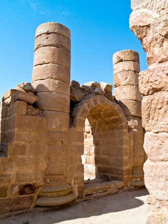 nabataeans: Roman ruins - Nabataeans capital city (Al Khazneh) , Jordan. Roman Empire period.