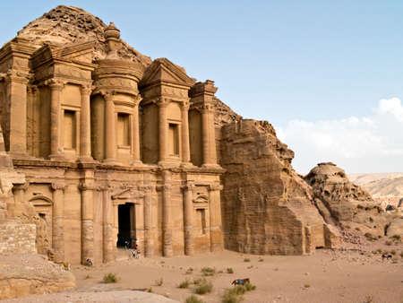 nabataeans: Petra - Nabataeans capital city (Al Khazneh) , Jordan. Monastery tomb. Roman Empire period. Stock Photo