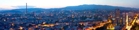 zagreb: Zagreb capitol of Croatia. Panorama by night.