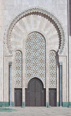 Detail of Hassan II Mosque in Casablanca Morocco photo