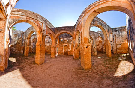 Ruins of the ancient necropolis of Kellah (Chellah) in the city of Rabat, Morocco. Stock Photo
