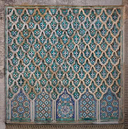 Bab Mansour El juge Gate. D�tail de la paroi. Vieille ville Mekn�s (Meknassa), Maroc.