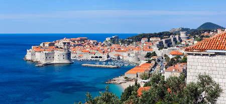 chorwacja: Dubrownik starych murów obrony miasta. Lokalizacja Chorwacja - Europa.