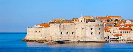 Dubrovnik old city defense walls. Location Croatia - Europe. Stock Photo - 9371795