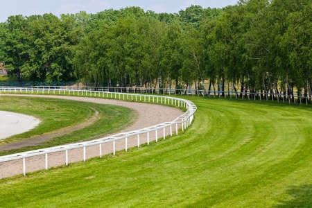 Piste de course pour les courses de chevaux