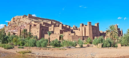 Fortified City (Ksar) with Mud Houses in the Kasbah Ait Benhaddou near Ouarzazate, Morocco. photo