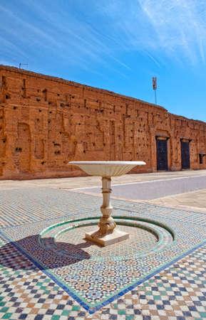 Du 16�me si�cle Palais El Badi (Palais El Badi) � Marrakech Banque d'images