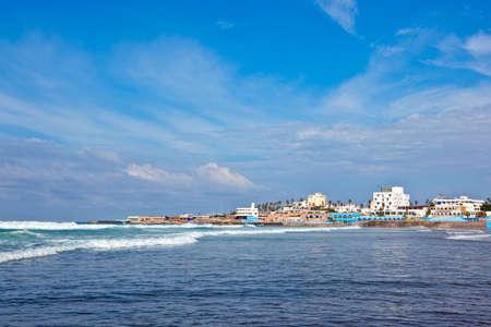 View of the Casablanca coast, Morocco.