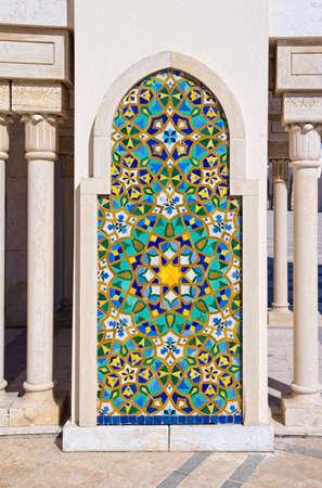 Exterior detail of Hassan II mosque, Casablanca, Morocco. Stock Photo - 10669674