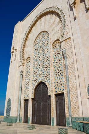 Exterior of Hassan II mosque, Casablanca, Morocco. photo