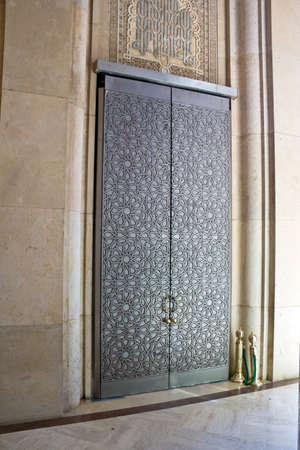 Hassan II Mosque Casablanca interior detail. photo
