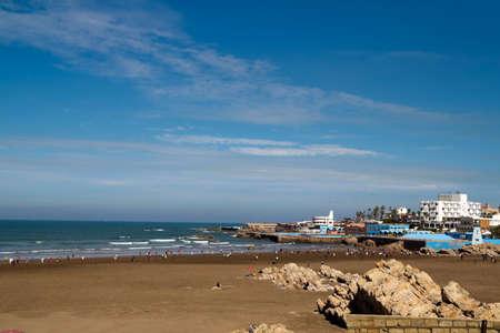 View of the Casablanca beach, Morocco.