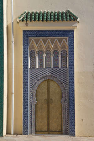 Old Golden Door of the Royal Palace in Fes (Fez), Morocco. photo