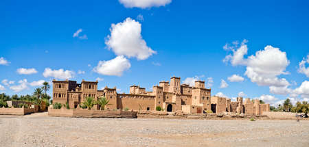 fortified: Fortified Mud Houses in the Kasbah, Ouarzazate, Morocco. Souss-Massa-Draâ region.