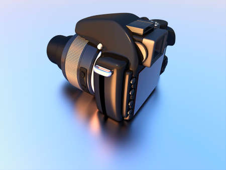 3D rendering of digital camera. photo