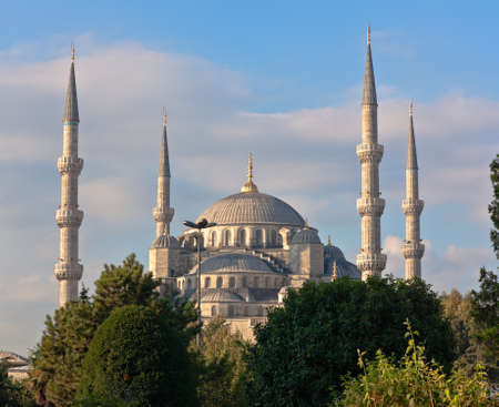 Blue mosque in Istanbul, Sultanahmet park. The biggest  mosque in Istanbul of Sultan Ahmed (Ottoman Empire). photo