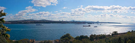 bosporus: View of the Bosporus from Topkapi Palace in Istanbul.