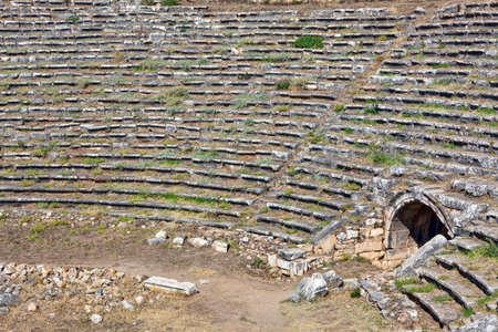 hellenic: Famous Stadium in Aphrodisias for 30 000 people built during Hellenic era. Detail with entrance for the athletes. In Roman time it was a small city in Caria.
