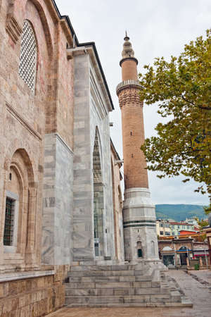 seljuk: Bursa Grand Mosque or Ulu Cami is the largest mosque in Bursa and a landmark of early Ottoman architecture, with many elements from the Seljuk architecture Stock Photo