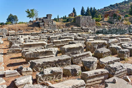 Roman ruins sorting by archeologists in Ephesus (Efes) from Roman time in Turkey. Stock Photo - 11955903