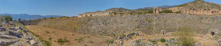 hellenic: Famous Stadium in Aphrodisias for 30 000 people built during Hellenic era. In Roman time it was a small city in Caria.