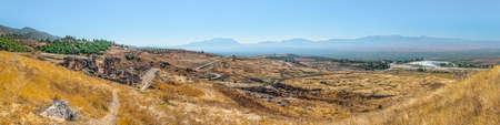 Panorama of Hierapolis from The St. Philip Martyrium, Pamukkale, Turkey. Stock Photo - 12184447