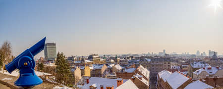 Panorama of Zagreb old town from upper town Gradec - capitol of Croatia Stock Photo - 12906217