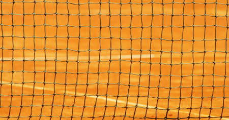 Tennis net background with shallow depth of field  photo