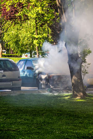 Car engulfed in flames  Stock Photo - 14146510