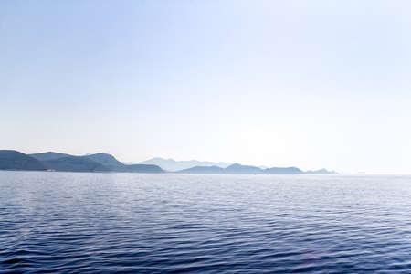 Island Mljet early morning panorama, near Dubrovnik, Croatia. Stock Photo - 14313359