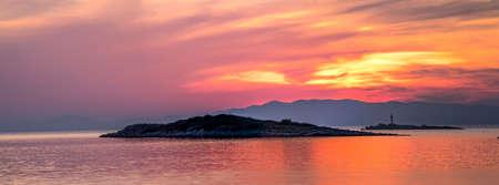 Colorful sunset on island Mljet,near Dubrovnik, Croatia. Stock Photo - 15586158