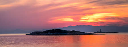 Colorful sunset on island Mljet,near Dubrovnik, Croatia. Stock Photo - 15586158