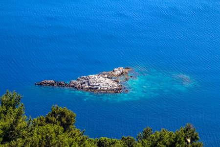islets: Mediterranean landcape - small islets of coastal waters  island Mljet near Dubrovnik, Croatia
