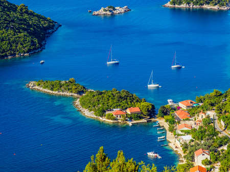 dubrovnik: Adriatic landscape panorama on island Mljet, Dubrovnik archipelago, Croatia.