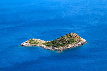 islet: Mediterranean landcape - small islet of coastal waters  island Mljet near Dubrovnik, Croatia
